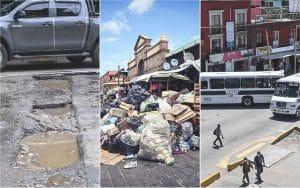 Baches, basura y bloqueos: las 3B de las calles capitalinas de Oaxaca