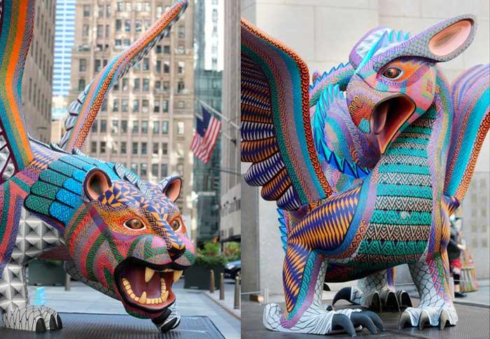 Alebrijes gigantes de Oaxaca conquistan con su magia el corazón de Nueva York