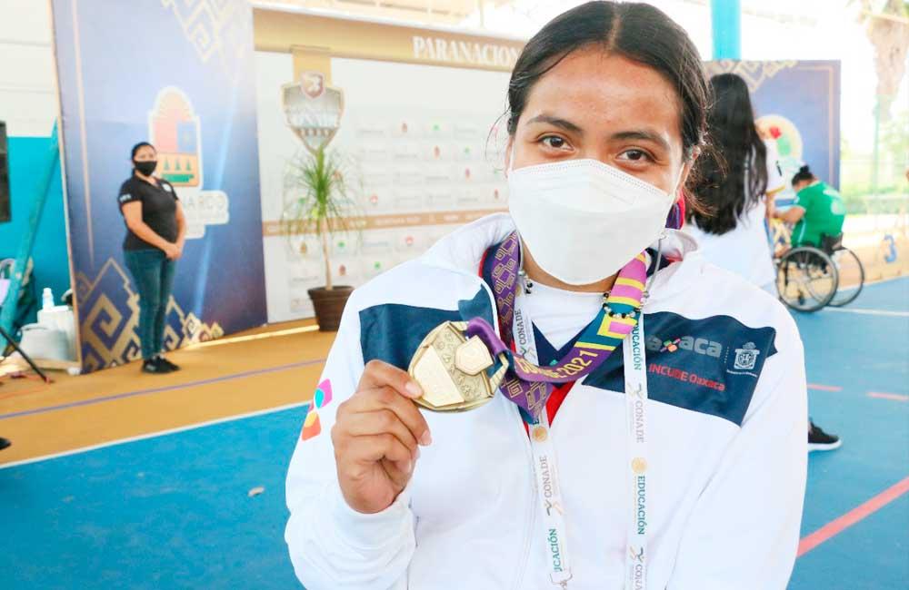 Rebeca Cortez gana la primera medalla de oro para Oaxaca en paraatletismo