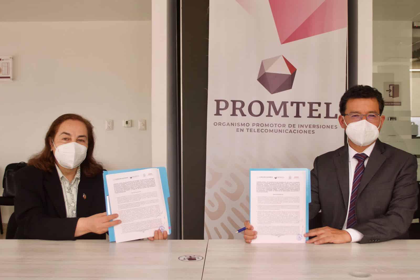 Sebien promueve que haya conectividad en todo el estado mediante suscripción de convenio con Promtel