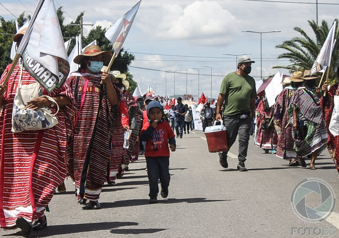 Marchas y protestas sociales en la capital oaxaqueña