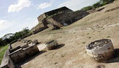 Y en sus muros se encuentran nichos con dos cráneos. Fotoes.mx